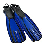 Mares Avanti Quattro Plus Open Heel Bungee Strap Fin, Blue, Small