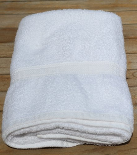 Ring Spun Cotton Bath Towels, 6 Pack, White, 24