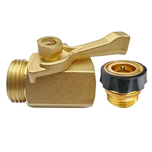 Cheap PLG Solid Brass Shut-Off Valve Quick Release Male Hose Connector