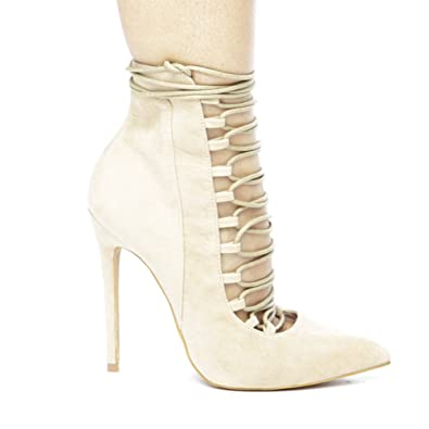 a86519729d6 Amazon.com | Shoe Republic LA Pella Womens Lace up Ankle Booties ...