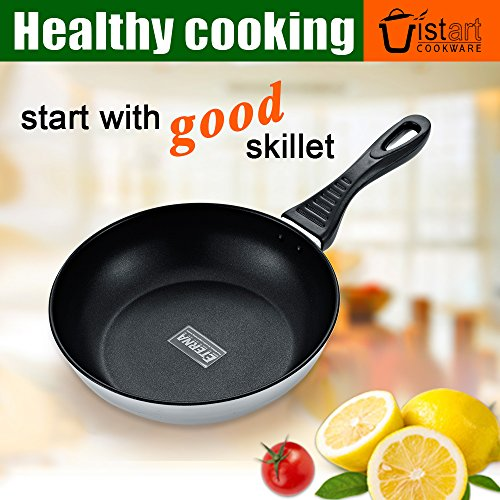 Temporary Hard-anodized Aluminum Nonstick Skillet, 10 Inch Skillet Pan with Helper Handle (10inch)