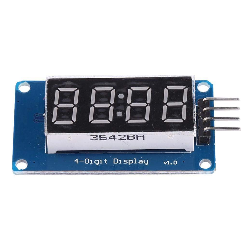 2pcs 0.36 4-Digit Tube LED Segment Display Module Red Common Anode TM1637 Drive Chip Tube Clock Display for Arduino UNO R3