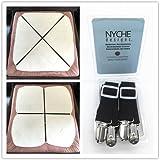 Crisscross Adjustable Bed Sheet Straps Suspenders Model W1 (Set of 2, Black)