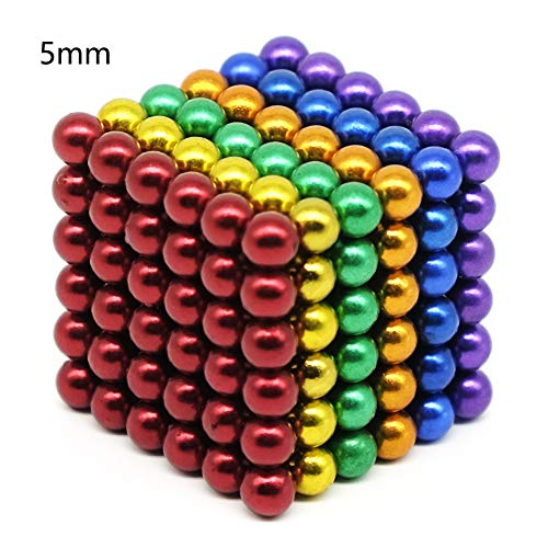 - XIN Multicolored Magnetic Beads Balls Magnets Toys Sculpture Building Magnetic Blocks Magnet Cube Gift for Intellectual Development Office Toy Stress Relief Gift 6 Color