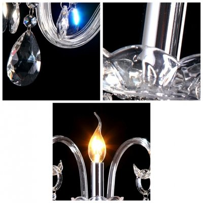 fei Splendid Unique Design Three Light Crystal Wall Sconce Offers Luxury Embellishment by fei Crystal light (Image #3)