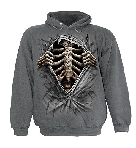 - Spiral - Mens - SUPER BAD - Hoody Charcoal - M