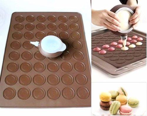 Longzang 48-Capacity Macarons Mat and Decorating Flower Tools by Longzang