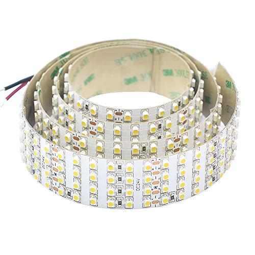 Quad Row Flexible LED Strip Lights, High CRI 95 DC24V 3528SMD 480LEDs/m 2,880Lumens/m- Super Bright LED Tape Lights for Photographic Lighting (Daylight White 6500K 3.28Ft/1M Non-Waterproof)