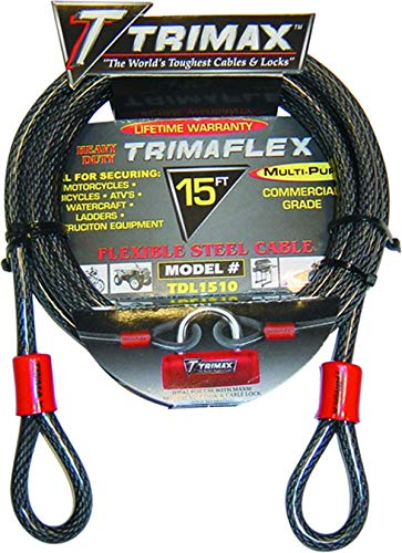 (Trimax TDL1212 Trimaflex Dual Loop Multi-Use Cable (12 ft Long x 12mm))