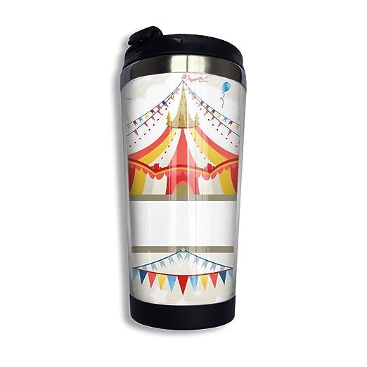 Tazas de café de acero inoxidable Patrón de circo Taza ...
