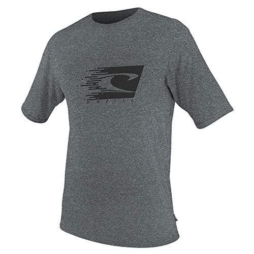 O'Neill Youth Hybrid UPF 50+ Short Sleeve Sun Shirt, Cool Grey, 14