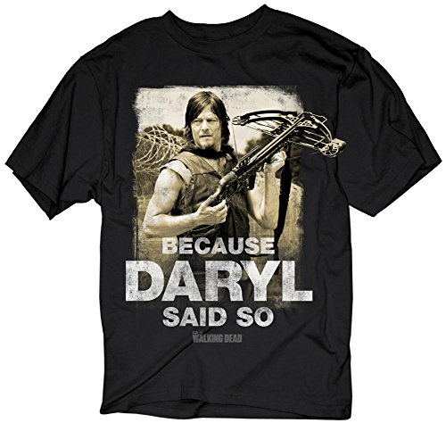 The Walking Dead- Because Daryl Said So T-Shirt Size XL (Day Of The Dead Party Ideas)