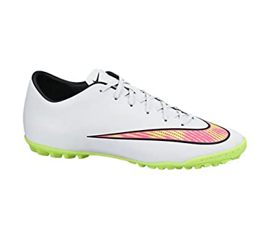 Amazon.com | Nike Men's Mercurial Victory V TF Soccer Shoe (9.5 D(M) US,  White/Hyper Pink/Volt) | Soccer
