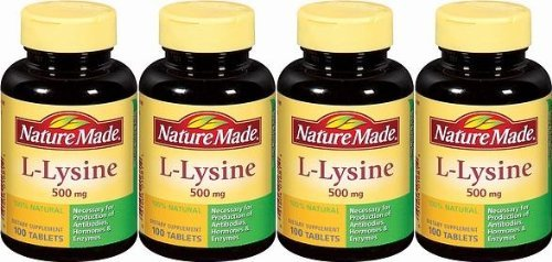 Nature Made L-Lysine 500mg, 100 Tablets (Pack of 9) by Unknown
