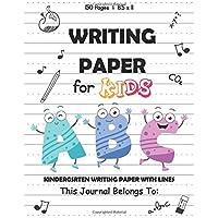 Writing Paper for kids: Kindergarten Handwriting Wordbook Writing Paper for ABC kids with Dotted Lined Kindergarten To…
