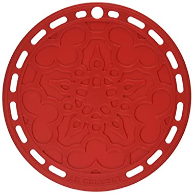 Le Creuset Silicone 8  Round French Trivet, Cerise (Cherry Red)