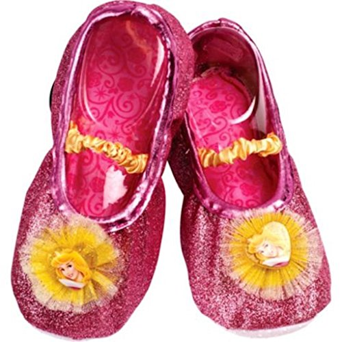 Disney Princess Aurora Toddler Slipper Shoes,Pink,One Size Fits -