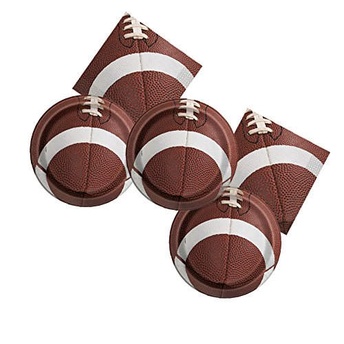 football themed party plates and napkins