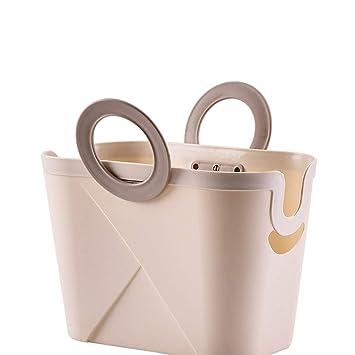 Amazon.com: JQHLJXZL Cesta de ducha portátil de plástico ...