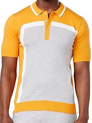 Sean John Mens Orange Polo Shirt