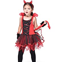 Honeystore Girl's Devil Costume Halloween Party Kids Dress up & Role Play
