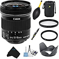 Canon EF-S 10-18mm f/4.5-5.6 IS STM Lens Bundle for Canon DSLR Cameras International Version