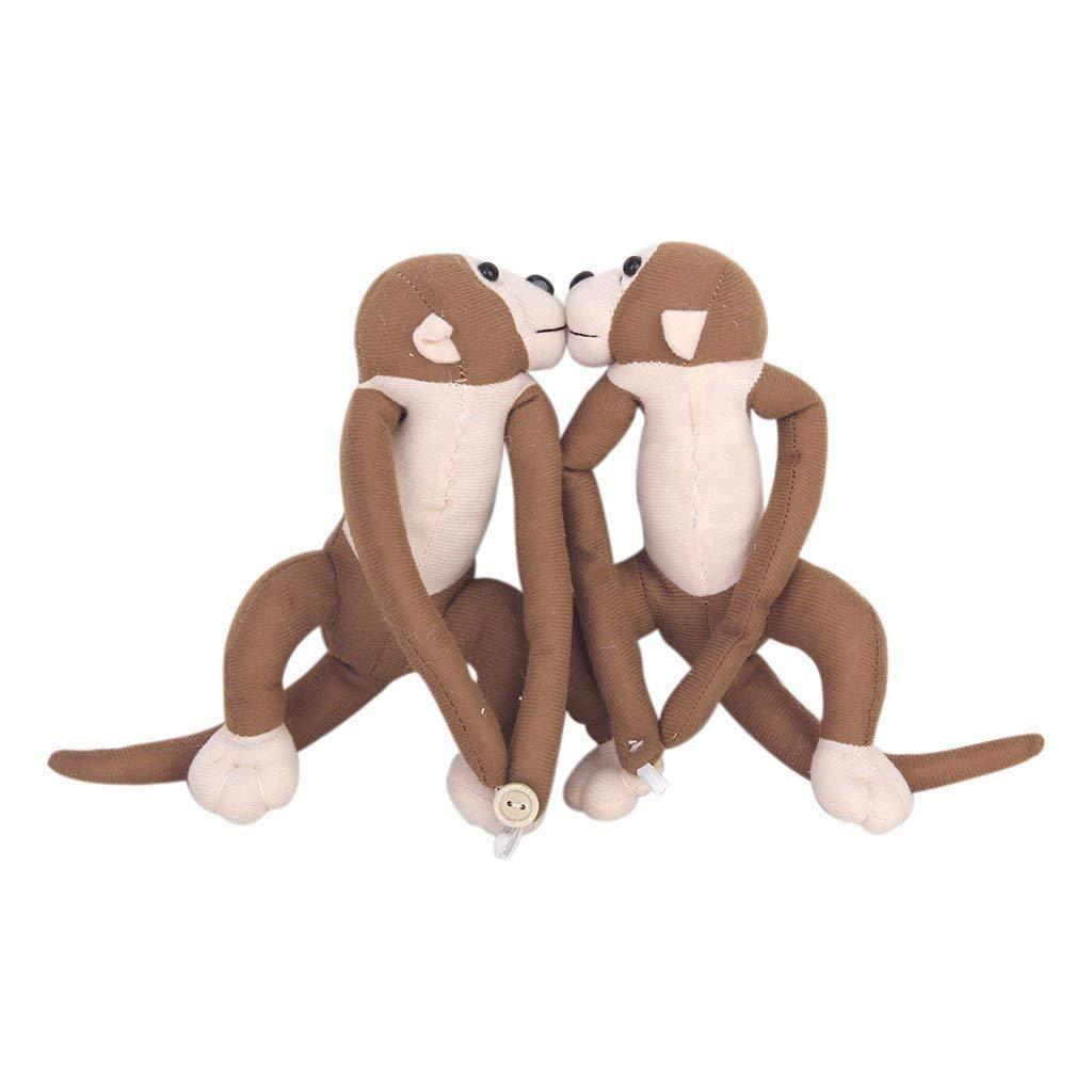 1 Paar Affe Curtain Tie Backs Kinder Zimmer Nursery Frech Spielen Monkey Vorhang binden zurück Raffhalter StillCool