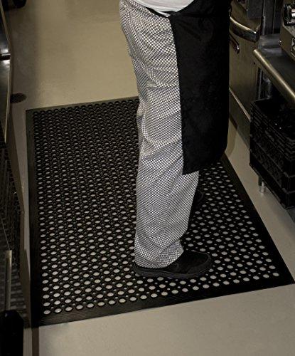 Durable Workstation Edge Anti-Fatigue Mat Drainage Mat, 36'' x 60'', Black by Durable Corporation (Image #1)