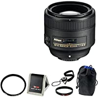 Nikon AF-S Nikkor 85mm f/1.8G Telephoto Portrait Lens with 67mm UV Protector ...