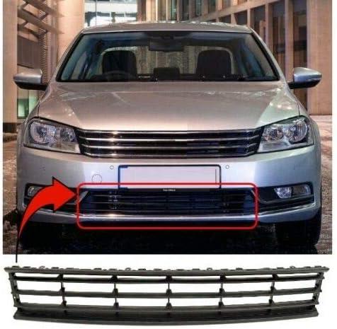 Trade Vehicle Parts VK1433 Front Bumper Grille Lower Centre Black/ Compatible With Passat B7 2011-2014