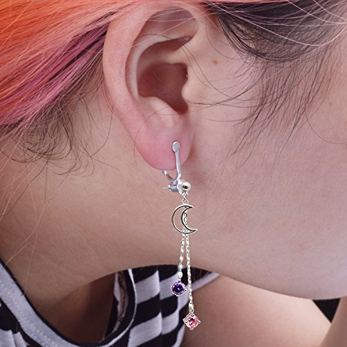 BronaGrand 20 Pieces Earring Clip Backs Clip-on Earring Converter Components Findings with Post for None Pierced Ears, Silver and Gold