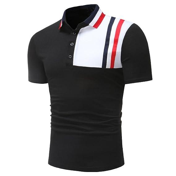 Amazon.com: kaifongfu Mens Top,Clearance Mens Plus Size Splicing Pure Color Shirt Short Sleeve T-Shirt Blouse Shirt: Clothing