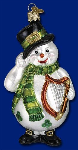 Old World Christmas Irish Snowman Ornament