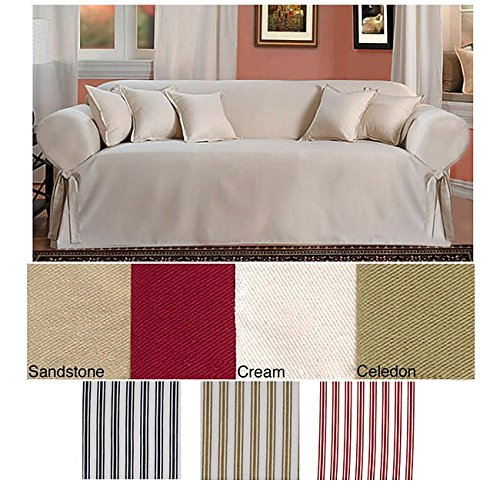 Classic Slipcovers Brushed Twill Sofa Slipcover - Slipcover Sofa Brushed Twill