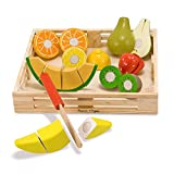 Toys : Melissa & Doug Cutting Fruit Set - The Original (Wooden Play Food Kids Toy, Wooden Crate, 17 Pieces, Great Gift for Girls and Boys - Best for 3, 4, and 5 Year Olds)