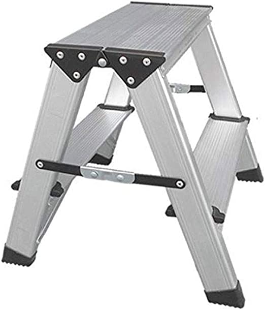 CMmin Plataforma de Escalera Plegable Multiusos Plataforma de andamio Extensible Extensión de Aluminio Escalera Escalera Ligera Silla de Escalera pequeña de 2 escalones: Amazon.es: Hogar
