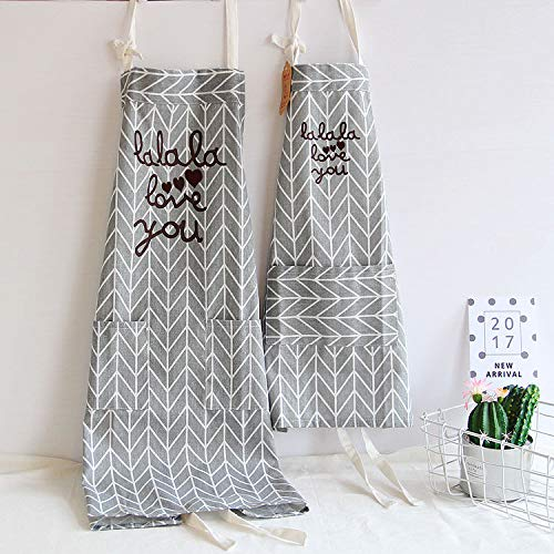 Aprons Mother Daughter Gifts Love You Cotton Blend Kitchen Grey Mommy and Me Matching for Adult and Kid Cooking Baking Painting - Apron Mothers