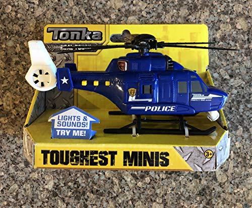 (Tonka Lights and Sounds Toughest Mini SWAT Police Helicopter Blue)