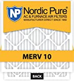 Nordic Pure 18x24x1 MERV 10 Pleated AC Furnace Air Filter, Box of 6