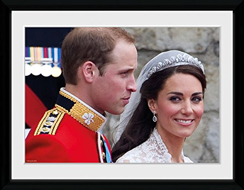 "Prince William and Kate Wedding Picture | Classic Framed Picture 16"" x 12"""