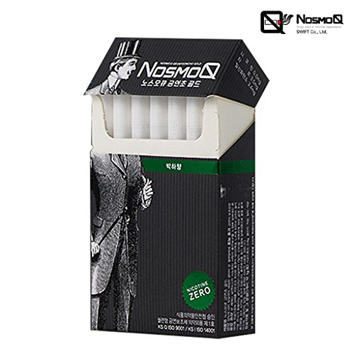 [NOSMOQ] 100% Nicotine Free Cigarettes 1 Pack (20 sticks), Non Tobacco, Menthol & Rose & Hazelnut Flavor All Natural Herbal Cigarettes (Menthol)