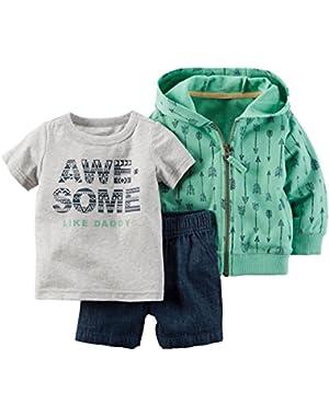 Carter's Baby Boy 3-Piece Cardigan Set