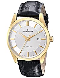 Claude Bernard Men's 80092 37J AID2 Classic Automatic Analog Display Swiss Automatic Black Watch