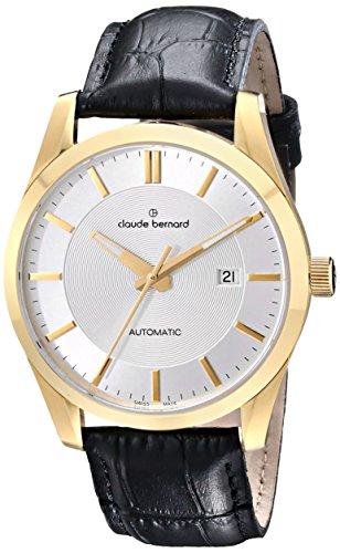 Claude Bernard Men's 80092 37J AID2 Classic Automatic Analog Display Swiss Automatic Black Watch