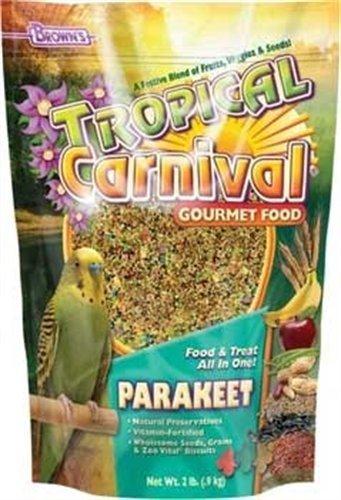 F.M. Brown's Tropical Carnival Gourmet Parakeet Bird Food, 20-Pound - Gourmet Parakeet Bird Food