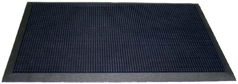 "Durable Heavy Duty Rubber Fingertip Outdoor Entrance Mat 36"" x 60"", Black"