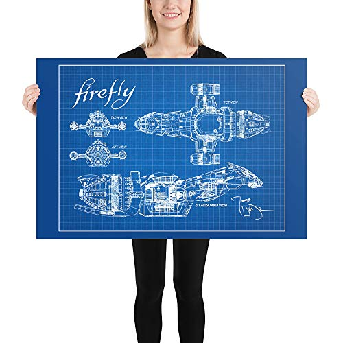 Firefly Ship Blueprint - Inspired by Firefly TV Series, Firefly Spaceship Reavers, Serenity, Serenity Ship Schematics, Wall Art, Home Decor, Printable Art, Present for Fans, Friends, Family