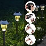 HECARIM Solar Lights Outdoor, 6 Pack Solar