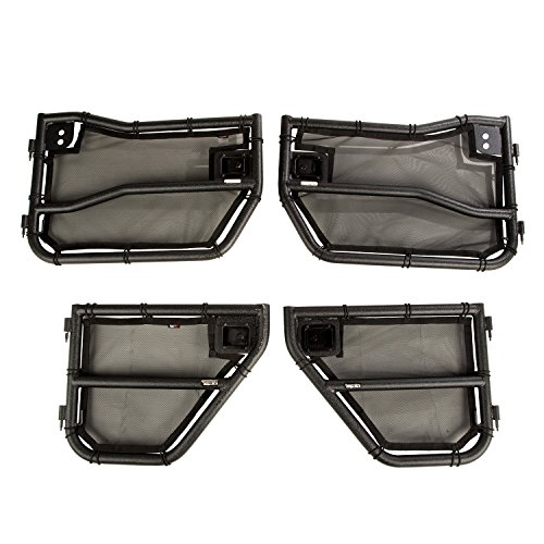 Rugged Ridge 11509.26 Tube Door Front and Rear w/Eclipse Cover Kit Tube Door