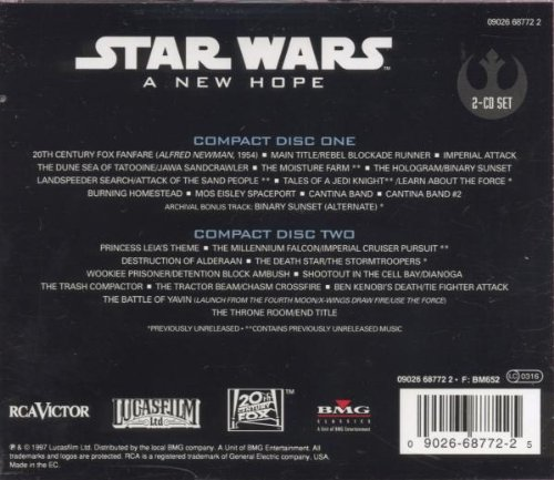 Williams John London Symphony Orchestra Star Wars A New Hope The Original Motion Picture Soundtrack Special Edition Amazon Com Music